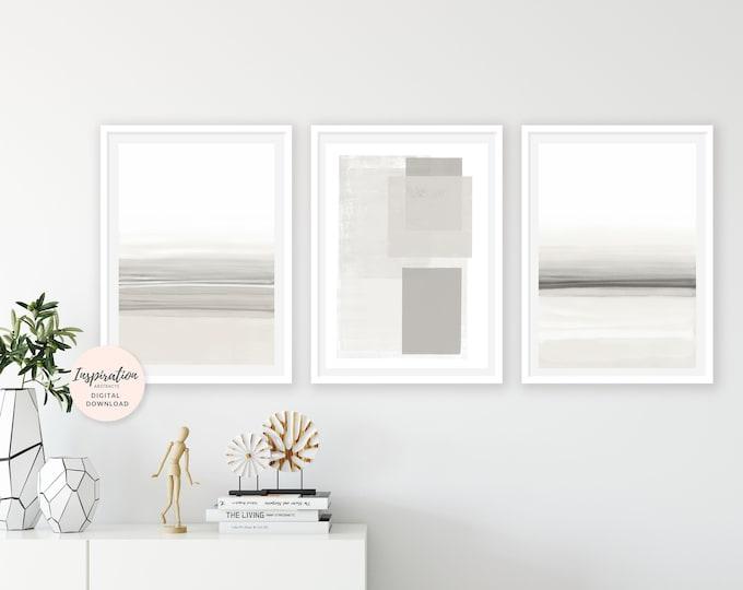 Set of 3 Prints, Minimalist Art, Simple Art Prints, Oversized Wall Art, 24x36 Art Prints, Large Wall Art, Abstract Wall Art, Mindful Art