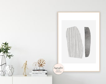Grey Abstract Art, Modern Wall Art, Serene Wall Art, Minimalist Art, Scandinavian Art, Collage Art,Large Wall Art, Abstract Art,