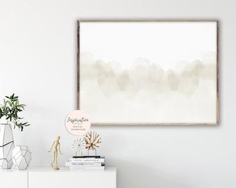 Serene Wall Art, Calming Abstract Art, Watercolour Painting, Minimalist Painting, Large Abstract Print, Neutral Art Print, Printable Art
