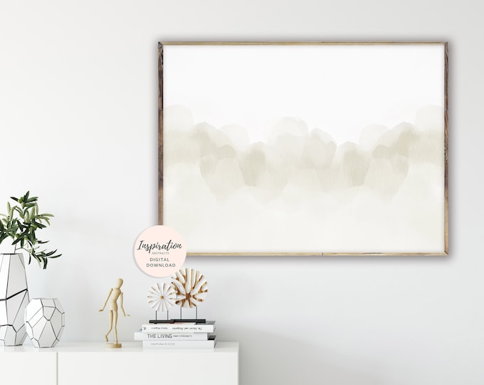 Serene Wall Art, Calming Abstract Art, Watercolour Painting, Minimalist Painting, Large Abstract Print, Neutral Art Print, Printable Art