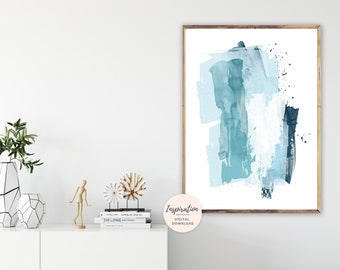 Large Mixed Media Art, Beach House Art, Oversized Wall Art, Minimalist Print, Modern Wall Art, Printable Abstract Art