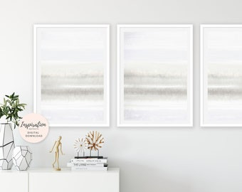 Minimalist Art Set, Calming Art Prints, Neutral Wall Art, Set of 3 Prints, Mixed Media Art, Oversized Wall Art, Large Wall Art
