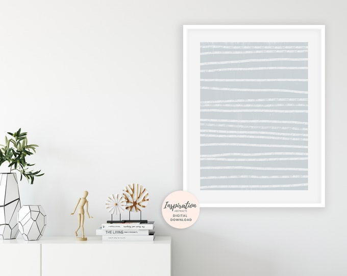 Grey and White Abstract Art, Abstract Stripes Print, Minimalist Art, Calming Wall Art, Oversized Wall Art, Large Wall Art, Digital Download