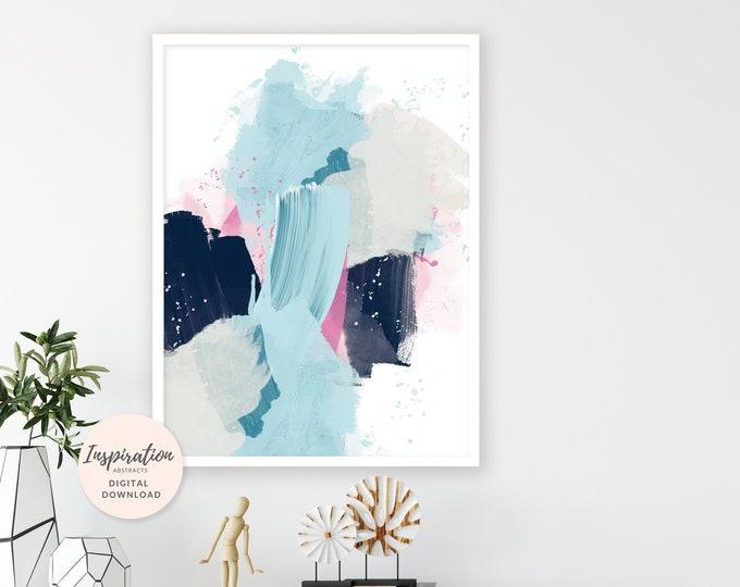 Featured listing image: Colourful Mixed Media Art, Abstract Art, Oversized Wall Art, Living Room Art, Apartment Decor, Modern Art Print, Printable Wall Art