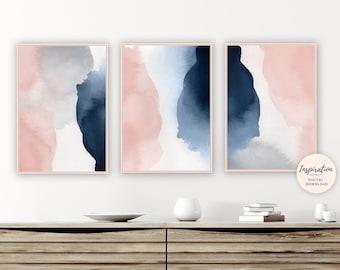 Pink & Navy Art