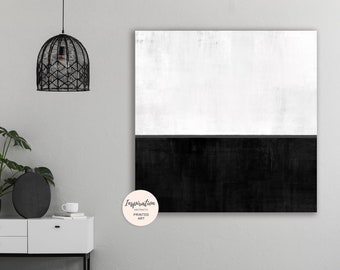 Minimal Abstract Print, Black and White Wall Art, Oversized Wall Art, Minimalist Painting, 40x40 Wall Art, Luxury Wall Art