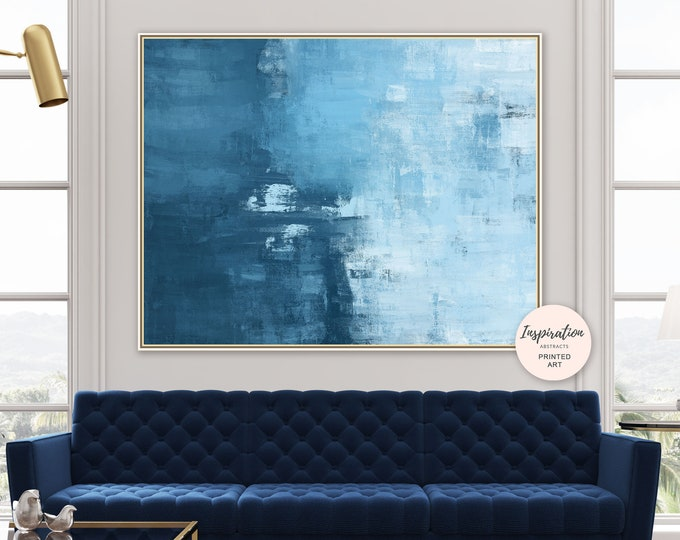 Large Abstract Print, Giclee, Blue Oil Painting, Oversized Wall Art, Beach House Art, Minimalist Painting, 40x60 Wall Art, Contemporary Art