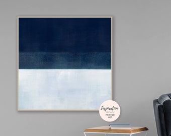 Navy Abstract Art, Oversized Painting, Large Abstract Print, Giclee Print, Modern Art Print, Minimalist Painting