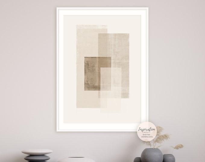 Large Minimal Wall Art, Neutral Tone Print, Printable Art, Abstract Art, Minimalist Print, Modern Wall Art, Poster Print, Downloadable Art