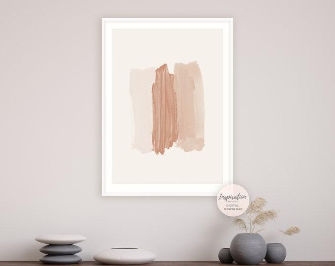 Large Neutral Tone Print, Simple Wall Art, Boho Decor, Printable Art, Large Minimal Wall Art, Abstract Art, Poster Print, Brushstrokes Art