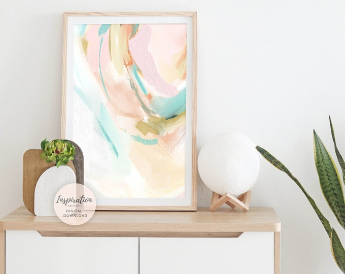 Colourful Art Print, Nursery Wall Art, Abstract Painting, Printable Art, Abstract Art, Bedroom Wall Art, Modern Art, Poster Prints