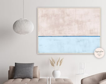 Minimalist Painting, Neutral Wall Art, Abstract Print, Oversized Wall Art, Horizontal Print, Large Wall Art, Living Room Art