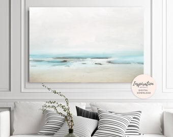 Abstract Ocean Print, Beach House Art, Large Abstract Painting, 24x36 Art Print, Coastal Wall Art, Abstract Landscape Painting