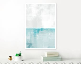 Blue and Grey, Contemporary, Minimalist Abstract Art