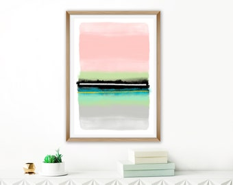 Colourful Abstract Art, Printable Watercolour Painting, Extra Large Modern Art Print, 24x36 Print, Extra Large Living Room Print