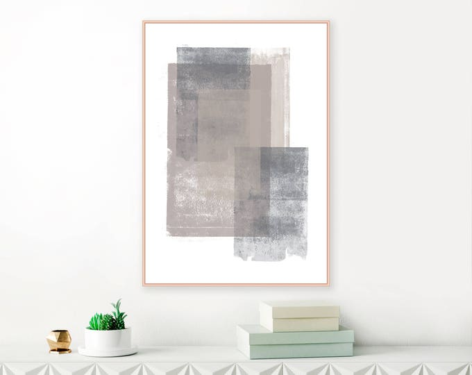 Grey and Brown Abstract Art, Large Minimalist Painting, Living Room Print, Extra Large Wall Art, Modern Printable,Neutral Art
