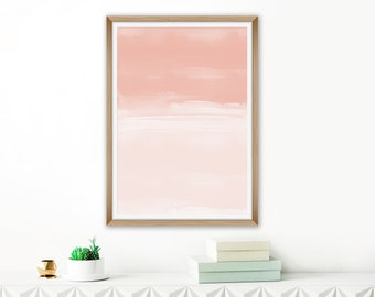 Blush Watercolor Print, Contemporary Painting, Blush Living Room Decor, Lounge Painting, Oversized Abstract Art, Printable Watercolour