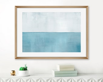 Pale Blue and Grey Abstract Art, Oversized Acrylic Painting, Pale Blue Print, Printable Abstract, Minimalist Lounge Painting