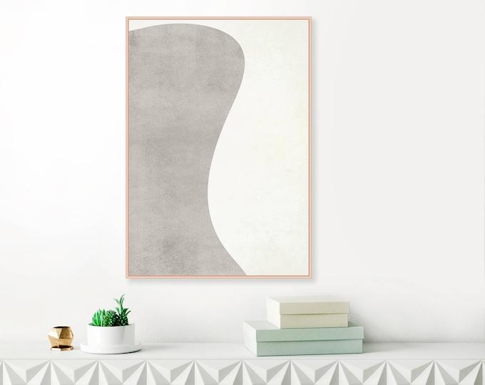Minimalist Grey and White Modern Art Print, Minimalist Modern Art, Large Printable Living Room Art