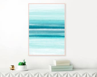 Tranquil Abstract Print, Downloadable Painting, Serene Watercolour and Acrylic  Print