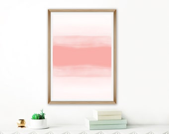 Large Printable Abstract Art, Blush Pink Watercolor Print, Minimalist Painting, Modern Wall Decor, 24x36 Print, A1 Poster Size Art