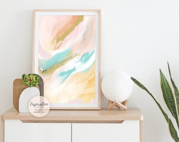 Colourful Wall Art, Abstract Painting, Printable Art, Nursery Wall Art, Abstract Art, Acrylic Painting, Modern Art, Poster Prints