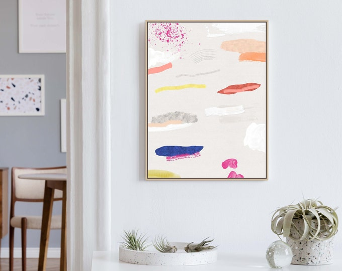 Colourful Abstract Wall Art, Mixed Media Art, Modern Art, Kids Room Art, Nursery Prints, Colorful Painting, Office Decor, Abstract Painting
