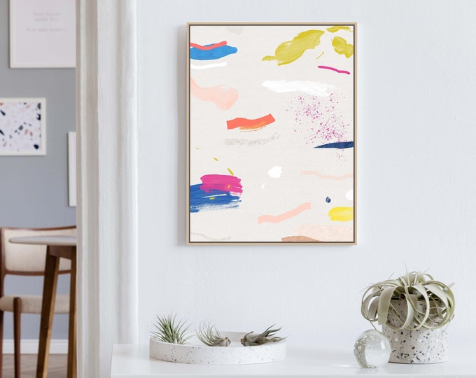 Colourful Mixed Media Art, Abstract Art, Modern Art, Kids Room Decor, Nursery Prints, Colourful Wall Art, Office Wall Art, Abstract Painting