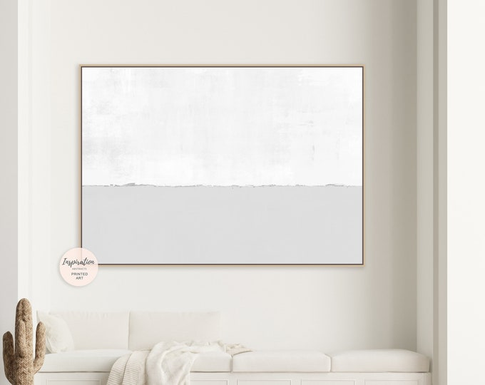 Minimal Grey And White Canvas Wall Art, Abstract Art, Large Abstract Painting, Minimalist Wall Art, Modern Art, Rothko Inspired, Large Art