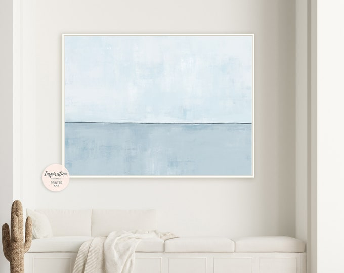 Minimal Blue Canvas Print, Large Abstract Painting, Canvas Art, Coastal Wall Art, Modern Art, Abstract Art, Rothko Inspired, Zen Wall Art