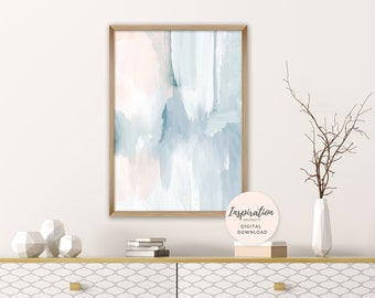 Subtle Abstract Art, Printable Abstract Painting, Calming Artwork, Printable Wall Art, Nursery Decor, Acrylic Art, Living Room Art