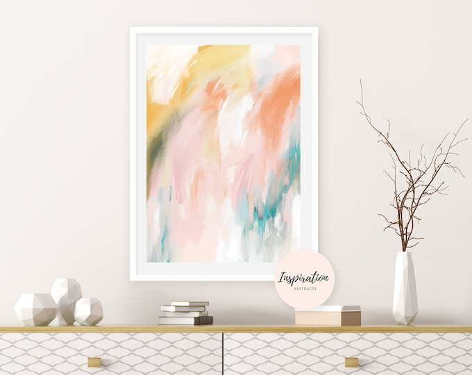 Printable Abstract Art, Colourful Art Print, Large Abstract Print, Acrylic Art, Printable Wall Art, Living Room Art, Inspiration Abstracts