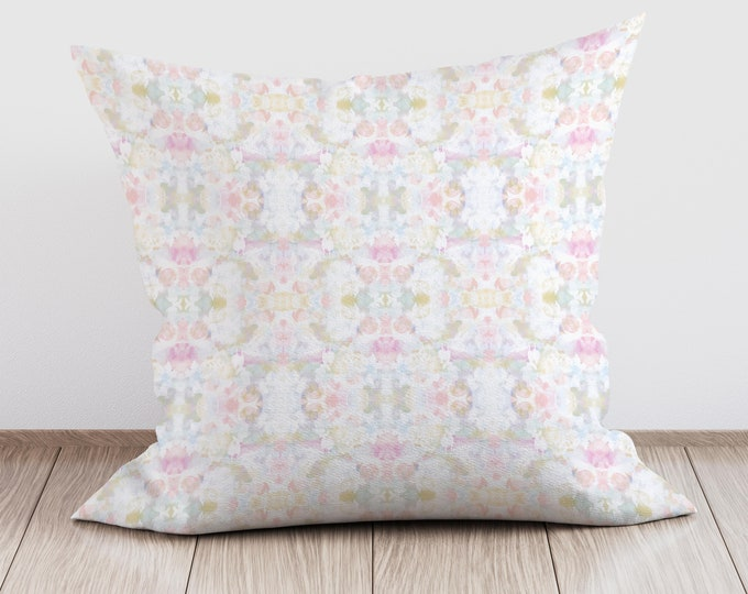 Boho Cushion, Pastel Throw Pillow, Decorative Pillows, Cushion Covers Uk, Boho Decor, New Home Gift, Living Room Decor, Velvet Cushion