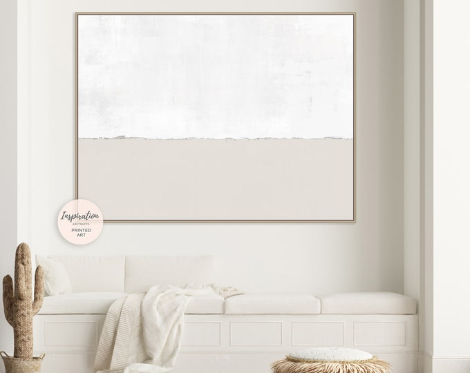 Large Minimalist Painting, Canvas Wall Art,  Beige White Wall Art, Oversized Wall Art, Modern Art, Abstract Art, Rothko Inspired
