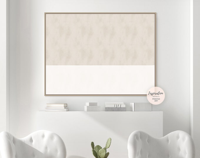 Beige and Cream Abstract Painting, Large Abstract Print, Modern Wall Art, Minimalist Print, Contemporary Art, Rothko Inspired, Large Art