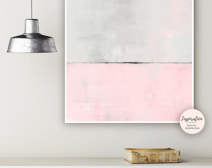Large Abstract Art, Printable Wall Art, Acrylic Painting, Living Room Art, Oversized Wall Art, Pink Grey Painting, Extra Large Wall Art