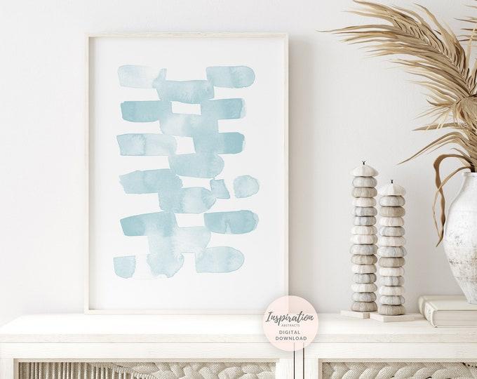 Modern Abstract Watercolour Painting, Pale Blue Wall Art, Printable Art, Zen Wall Art, Abstract Art, Minimal Wall Art, Nursery Print