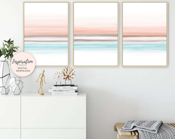 Printable Art, Set of 3 Prints, Modern Wall Art, 24x36 Art Prints, Watercolour Paintings, Bedroom Decor, Digital Prints, Abstract Art