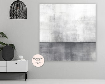 Grey Acrylic Painting, Oversized Lounge Painting, Formal Lounge Art, Modern Minimalist Print, Huge 40X40 Art Print, Giclee Print
