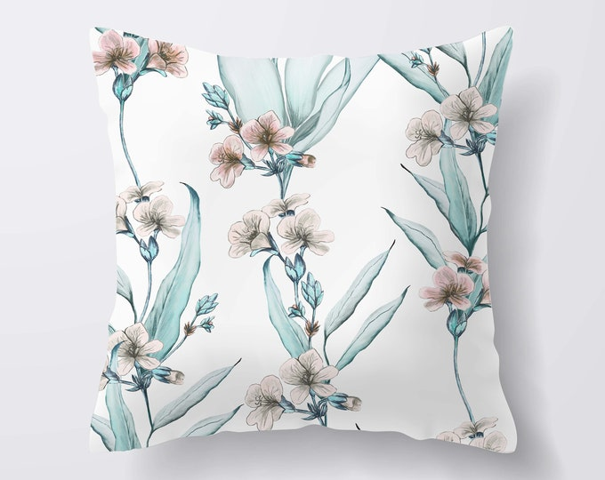Handmade Floral Print Cushion, Cushion Cover, Decorative Pillows, Throw Pillows, Cushion Covers Uk, New Home Gift