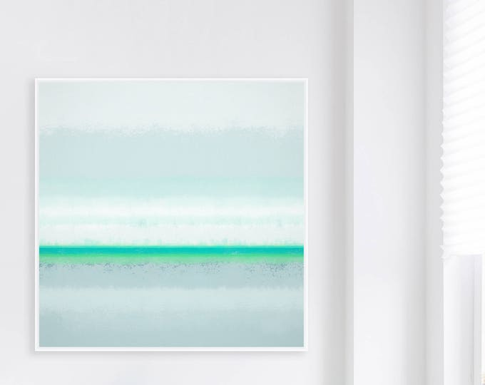 Soft Sage Green and Mint Abstract Art, Large 40x40 Printable Art, Modern Print, Minimalist Colour Field Painting