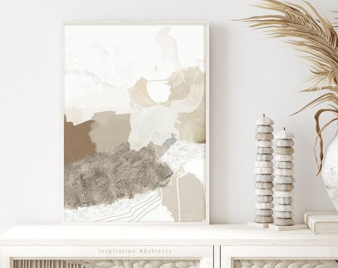 Neutral Tone Abstract Painting, Printable Wall Art, Mixed Media Art, Abstract Art, Contemporary Art, Minimalist Wall Art