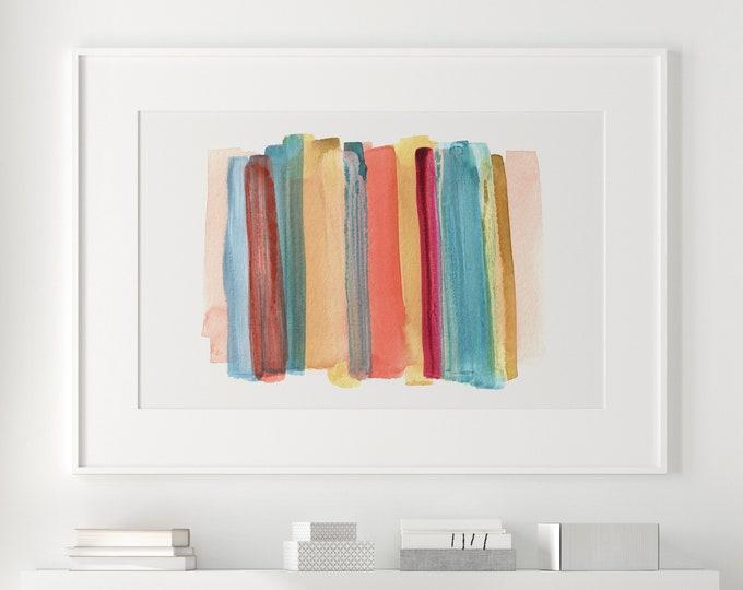 Colourful Painting, Large Mixed Media Art, Abstract Art, Watercolour Print, Minimalist Art, Kids Room Art, Nursery Art, Modern Wall Art