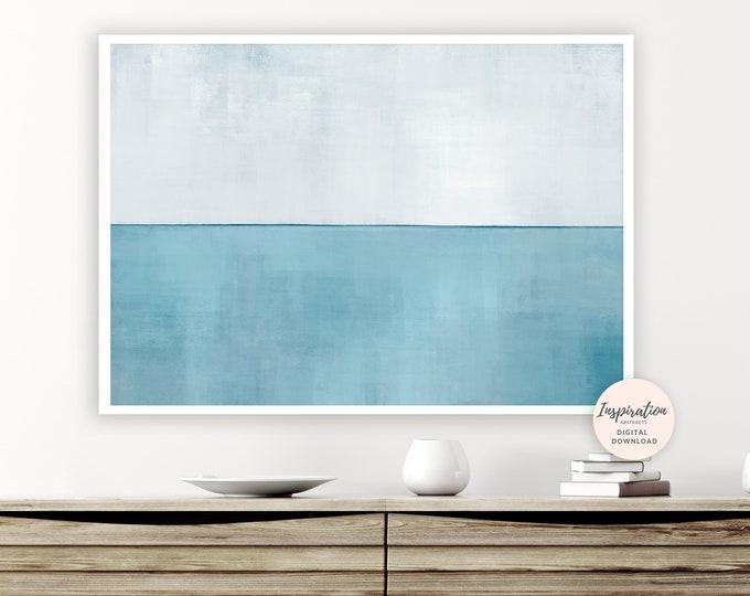 Calming Abstract Art, Blue Grey Wall Art, Beach House Art, Calming Wall Art, Printable Wall Art, Rothko Inspired, Living Room Decor