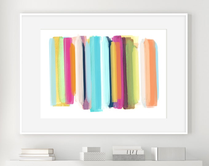 Large Abstract Art, Colourful Wall Art, Minimal Abstract Art, Mixed Media Art, Fine Art Print, Watercolour Print, Rothko Inspired