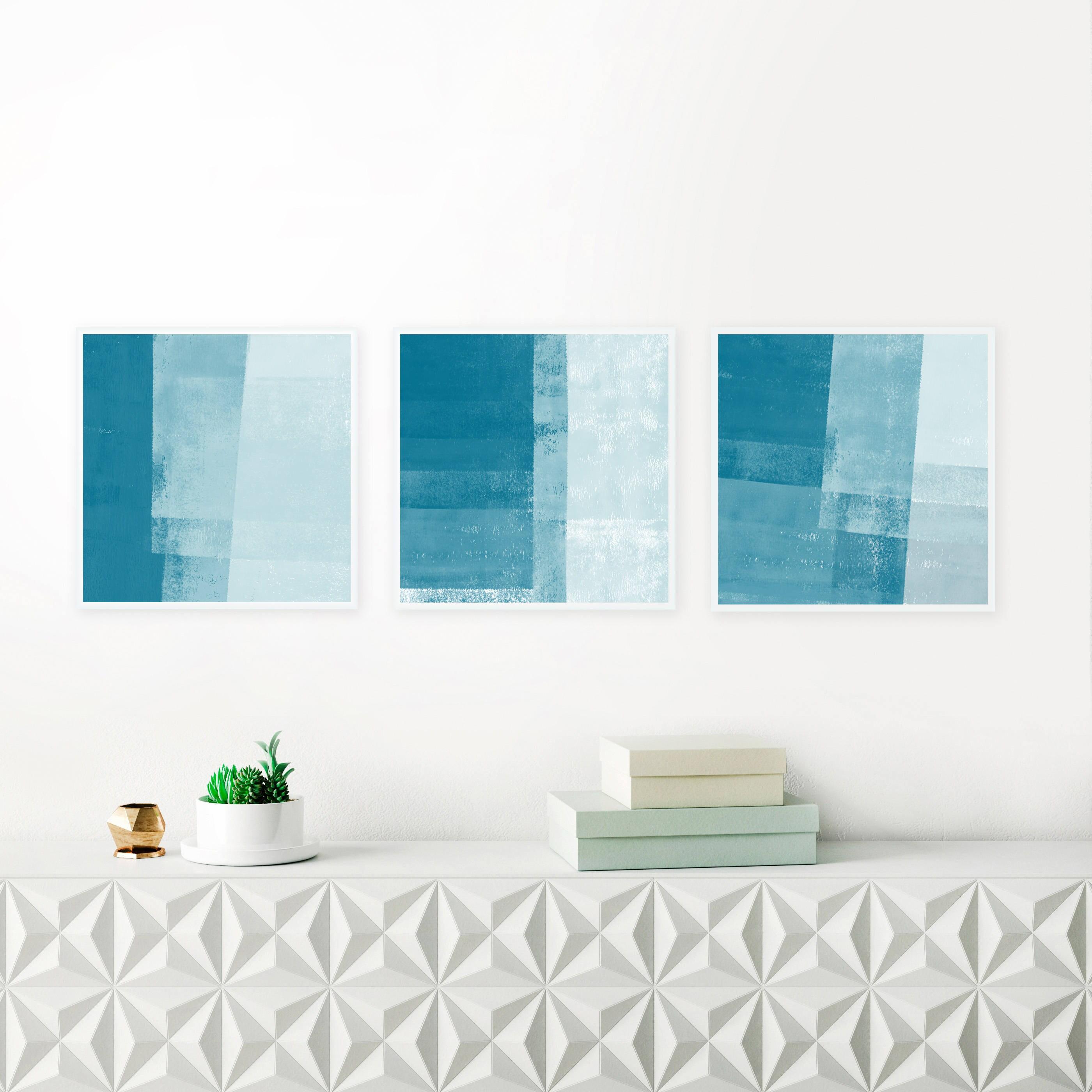 minimalist abstract art set 3 acrylic paintings minimal art prints