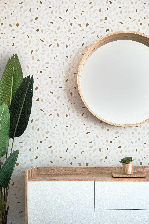 Terrazzo Wallpaper Abstract Wallpaper Office Decor Minimal Wallpaper Peel And Stick Wallpaper Removable Wallpaper Neutral Wallpaper