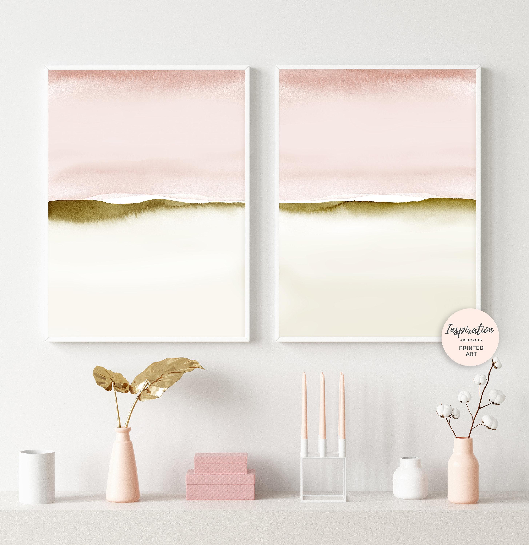 Blush Pink Wall Art, Set of Two Prints, Watercolour Prints ...