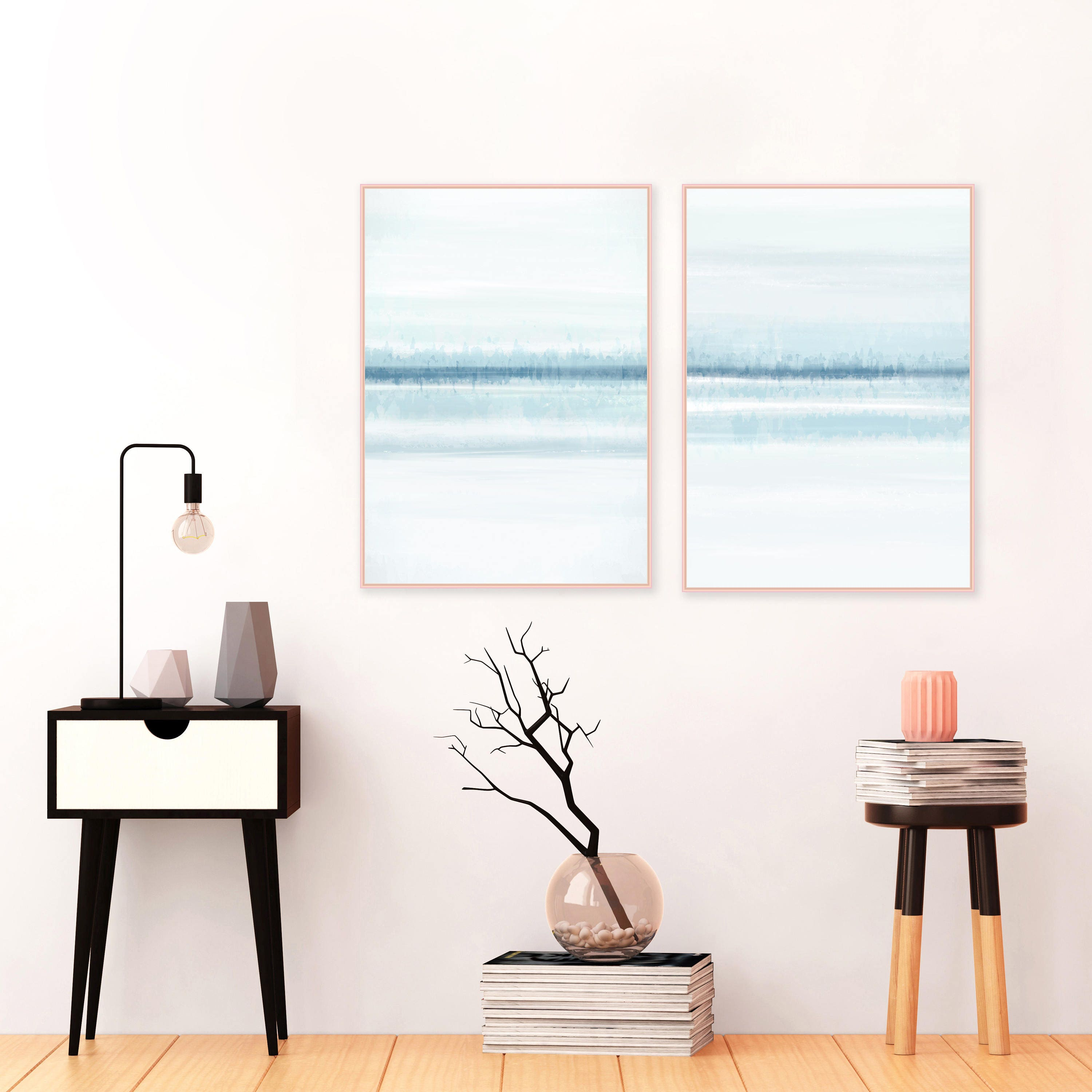 Blue Abstract Paintings Set of 2 Blue and White Art Beach House Art Diptych Wall Art 24x36 Prints Calming Art Extra Large Art  sc 1 st  Inspiration Abstracts & Blue Abstract Paintings Set of 2 Blue and White Art Beach House ...