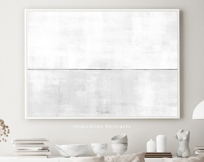 Extra Large Canvas Art, Grey And White Abstract Art, Canvas Wall Art, Large Abstract Painting, Minimalist Art, Modern Art, Rothko Inspired